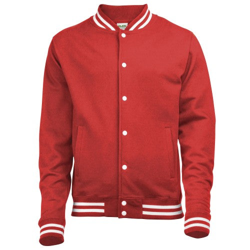 Front - Awdis Adults Unisex College Varsity Jacket