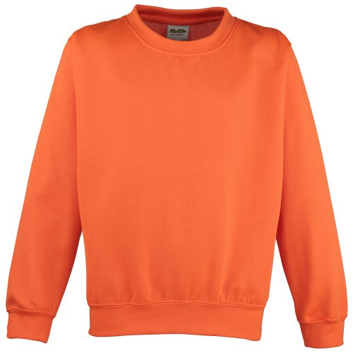Front - Awdis Childrens Unisex Electric Sweatshirt / Schoolwear