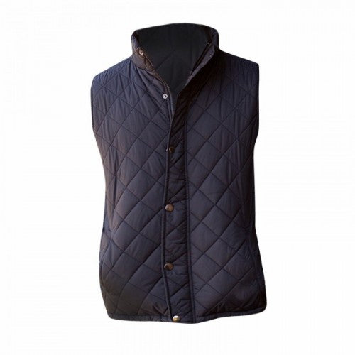 Front - Front Row Mens Diamond Quilt Gilet / Bodywarmer