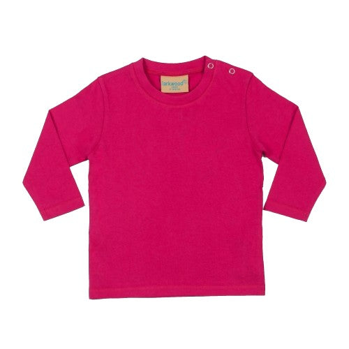 Front - Larkwood Baby Unisex Plain Long Sleeve T-Shirt