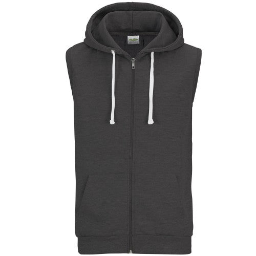 Front - AWDis Just Hoods Mens Sleeveless Hoodie Jacket