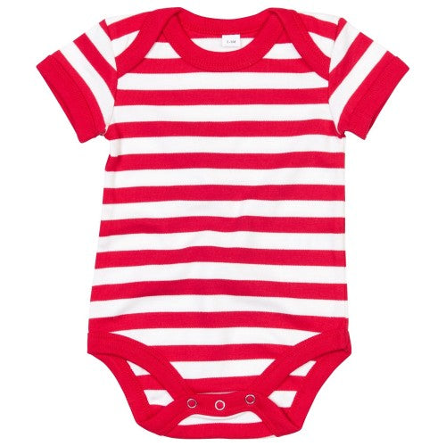 Front - Babybugz Baby Unisex Striped Short Sleeve Bodysuit