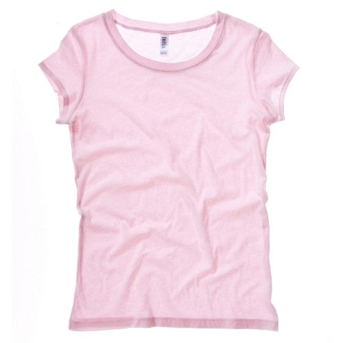 Front - Bella + Canvas Womens/Ladies Sheer Jersey Short Sleeve T-Shirt
