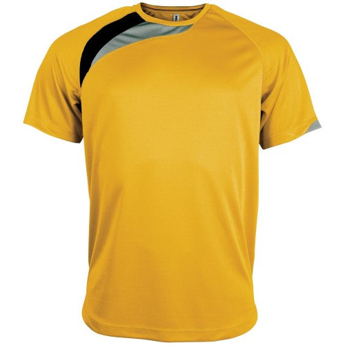 Front - Kariban Proact Mens Short Sleeve Crew Neck Sports T-Shirt