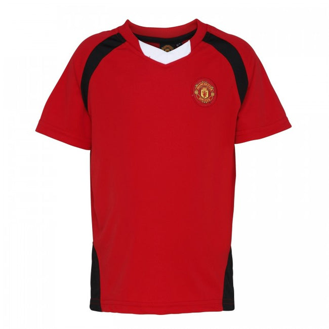 Front - Official Football Merchandise Kids Manchester United FC Short Sleeve T-Shirt