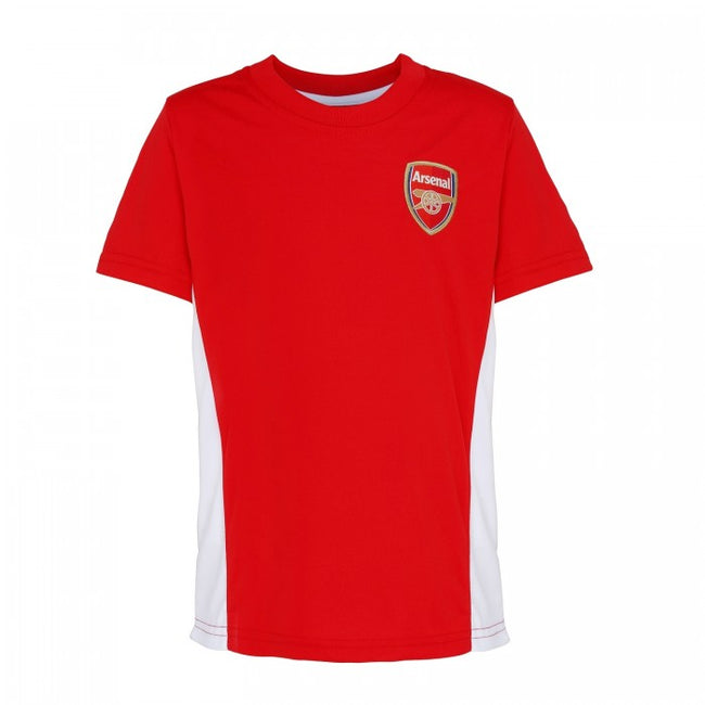 Front - Official Football Merchandise Kids Arsenal FC Short Sleeve T-Shirt