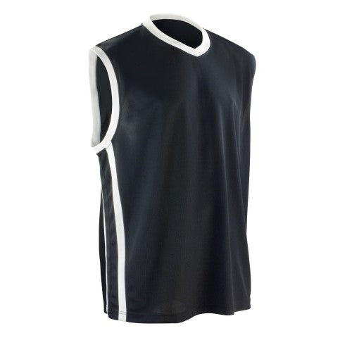 Front - Spiro Mens Basketball Quick Dry Sleeveless Top