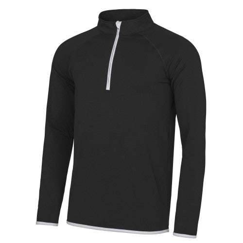 Front - AWDis Just Cool Mens Half Zip Sweatshirt