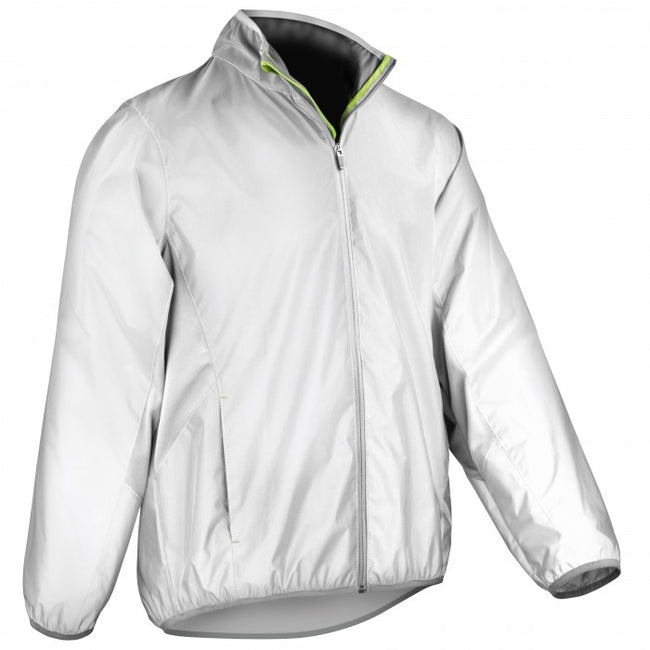 Front - Spiro Mens Reflec-Tex Windproof Hi-Vis Jacket