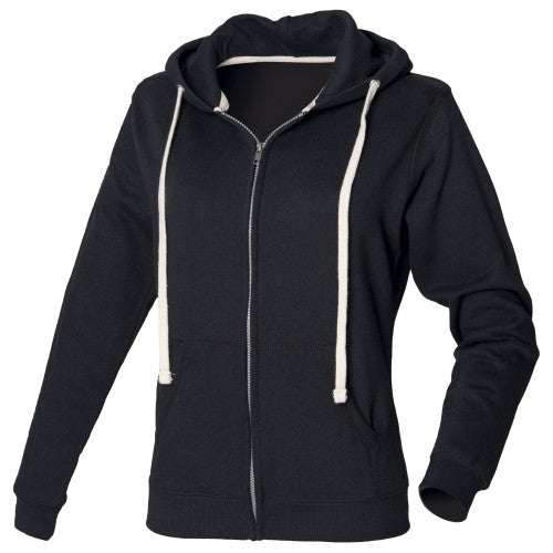 Front - Front Row Womens/Ladies Zip Through Hooded Sweatshirt / Hoodie