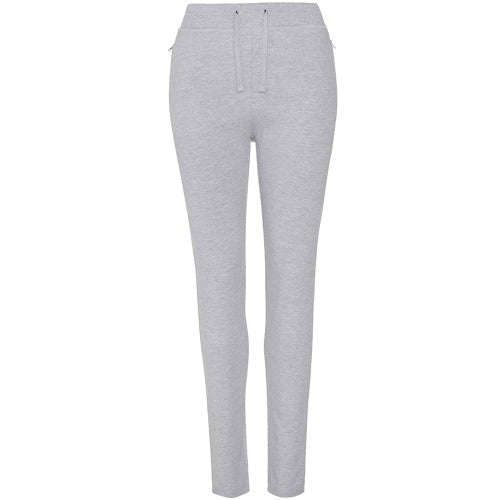 Front - AWDis Hoods Womens/Ladies Girlie Tapered Track Pants