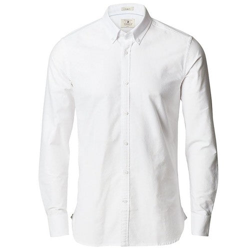 Front - Nimbus Mens Rochester Slim Fit Long Sleeve Oxford Shirt
