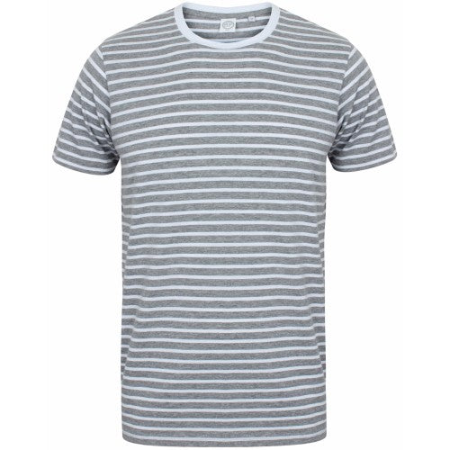 Front - Skinni Fit Unisex Striped Short Sleeve T-Shirt
