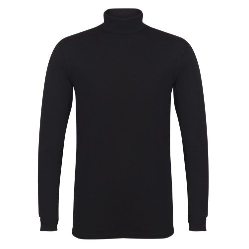 Front - Skinni Fit Mens Feel Good Roll Neck Long Sleeve Top