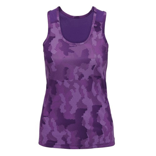 Front - Tri Dri Womens/Ladies Hexoflage Performance Sleeveless Vest