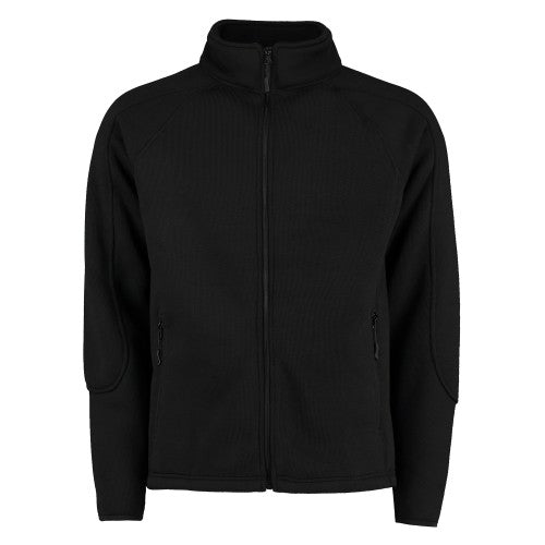 Front - Kustom Kit Mens Zip Up Knitted Fleece
