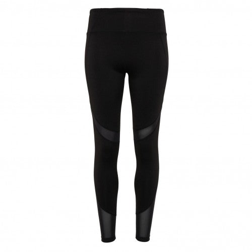 Front - TriDri Womens/Ladies Mesh Tech Panel Full-Length Leggings
