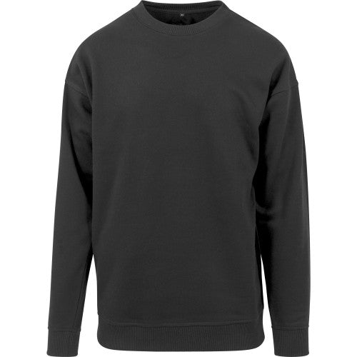 Front - Build Your Brand Mens Crew Neck Plain Sweatshirt