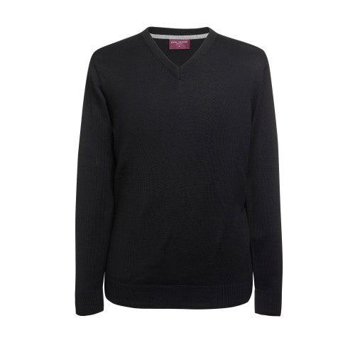 Front - Brook Taverner Mens Boston V-Neck Jumper