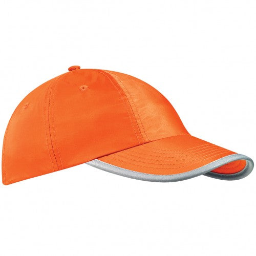 Front - Beechfield Enhanced-viz / Hi Vis Baseball Cap / Headwear (Pack of 2)