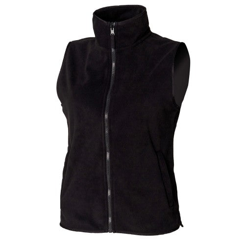 Front - Henbury Womens/Ladies Sleeveless Microfleece Anti Pill Lightweight Jacket / Bodywarmer