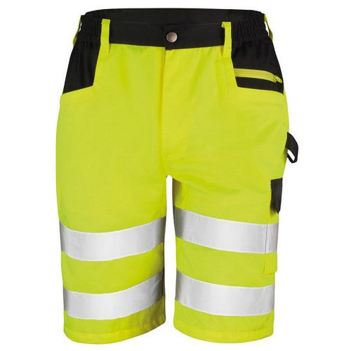 Front - Result Core Mens Reflective Safety Cargo Shorts (Pack of 2)