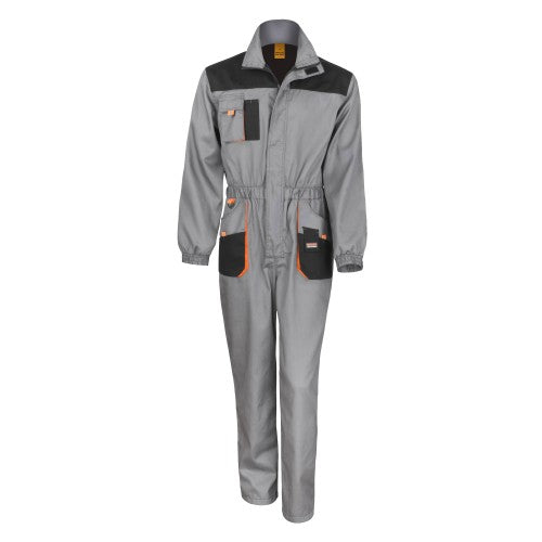 Black - Grey - Orange - Front - Result Unisex Work-Guard Lite Workwear Coverall (Breathable And Windproof) (Pack of 2)
