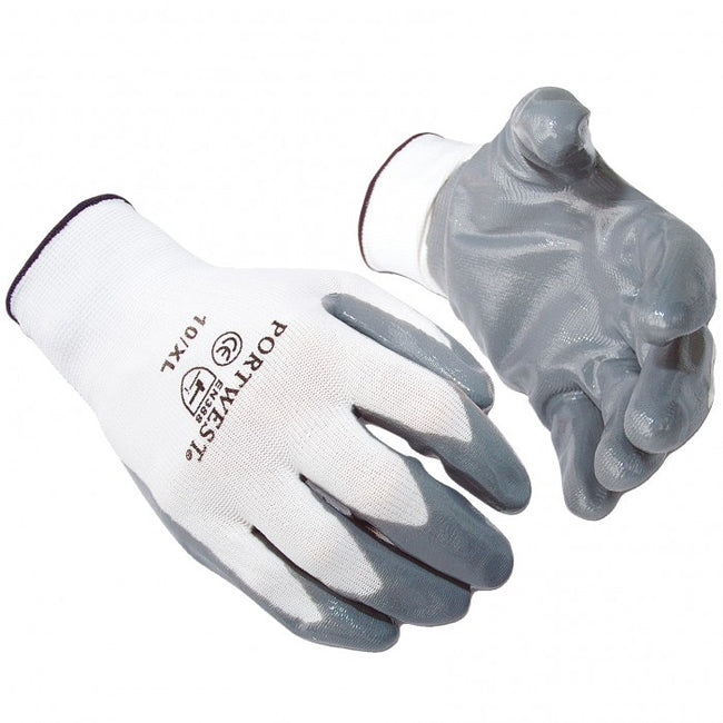 Front - Portwest Flexo Grip Nitrile Gloves (A310) / Safetywear / Workwear (Pack of 2)
