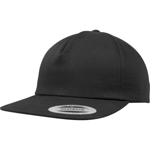 Front - Yupoong Flexfit Unisex Unstructured 5 Panel Snapback Cap