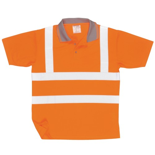 Front - Portwest Unisex Hi Vis Polo Shirt / Workwear / Safetywear