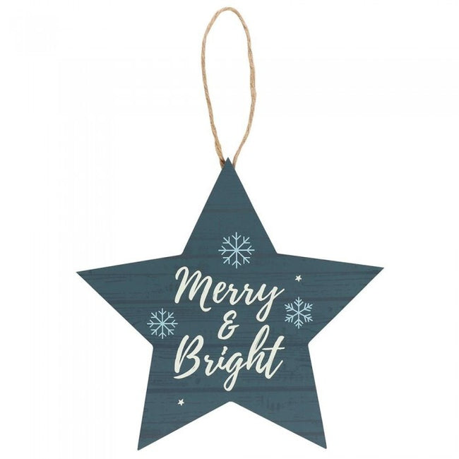 Front - Something Different Merry & Bright Star Christmas Tree Decoration