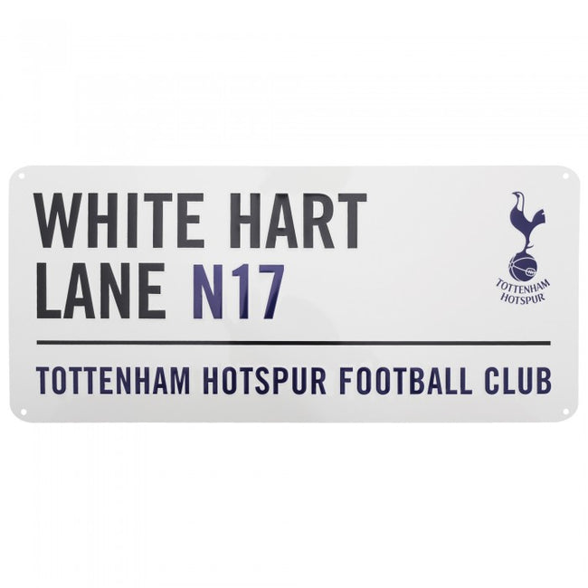 Front - Tottenham Hotspur FC Official White Hart Lane Metal Football Club Street Sign