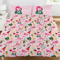 Front - Emoji Official Flamingo Reversible Duvet and Pillowcase Set