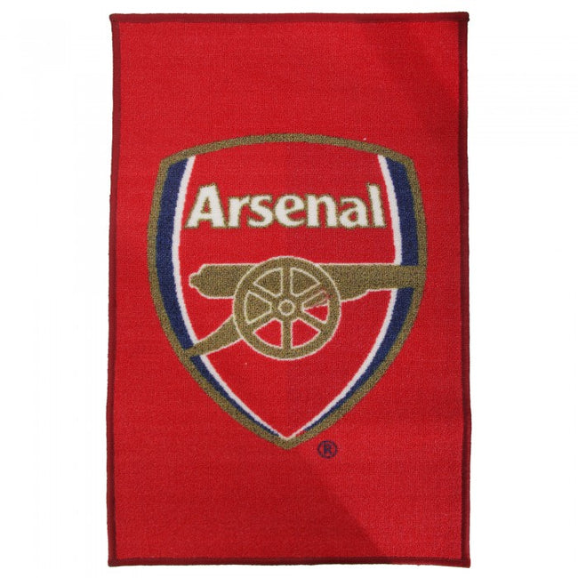 Front - Arsenal FC Official Printed Football Crest Rug/Floor Mat