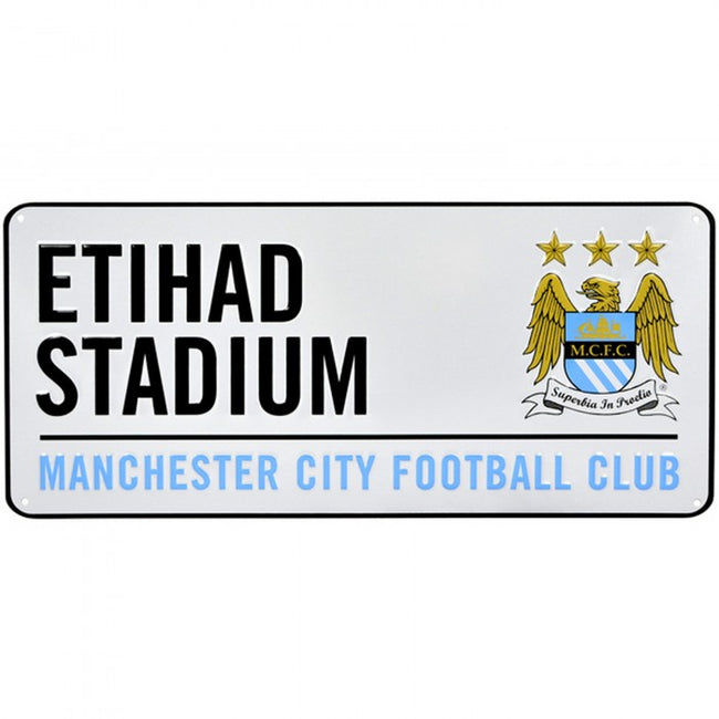Front - Manchester City FC Official Football Crest Street Sign