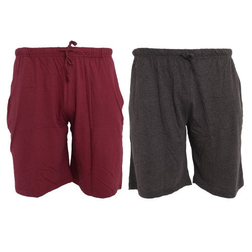 Front - Tom Franks Jersey Lounge Shorts (2 Pack)