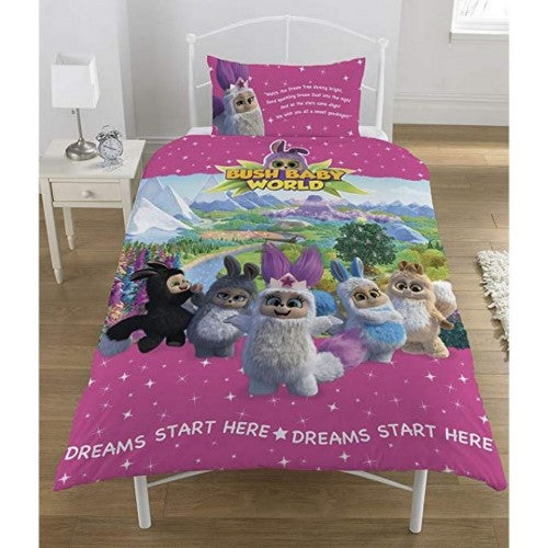 Front - Bush Baby World Girls Sparkle Reversible Single Duvet Set