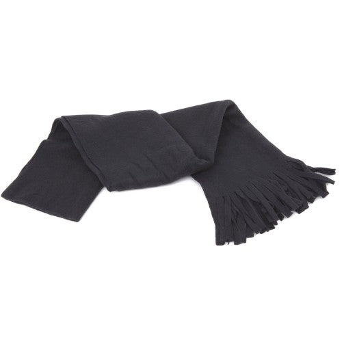Front - FLOSO Ladies/Womens Plain Thermal Fleece Winter/Ski Scarf With Fringe