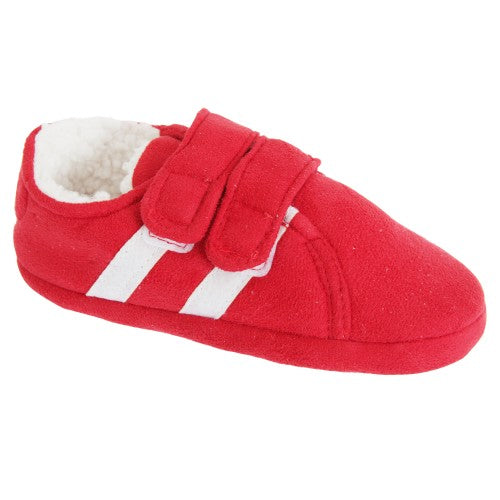 Front - Slumberzzz Childrens/Kids Double Stripe Double Strap Slippers