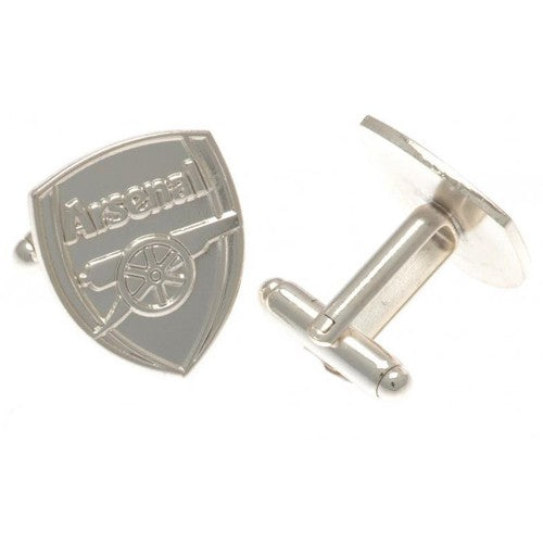 Front - Arsenal FC Silver Plated Crest Cufflinks