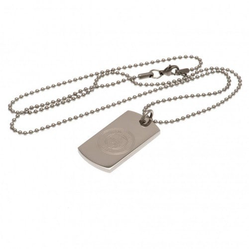 Front - Manchester City FC Engraved Dog Tag and Chain