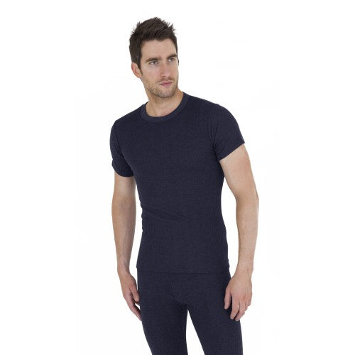 Front - Mens Thermal Underwear Short Sleeve T Shirt Polyviscose Range (British Made)