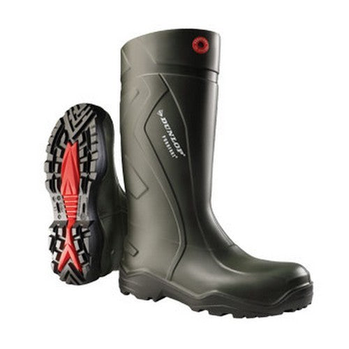 Green - Back - Dunlop Adults Unisex Purofort Plus Full Safety Wellies