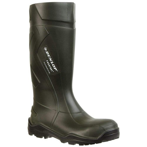 Front - Dunlop Adults Unisex Purofort Plus Full Safety Wellies