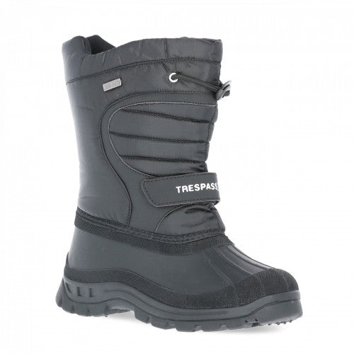 Front - Trespass Youths Unisex Dodo Winter Snow Boots