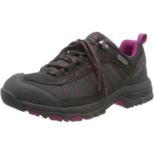 Front - Trespass Womens/Ladies Scree Lace Up Technical Walking Shoes