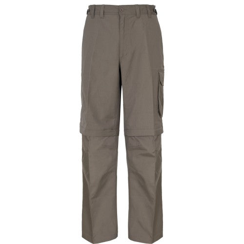 Front - Trespass Mens Mallik Convertible Water Repellent Cargo Trousers