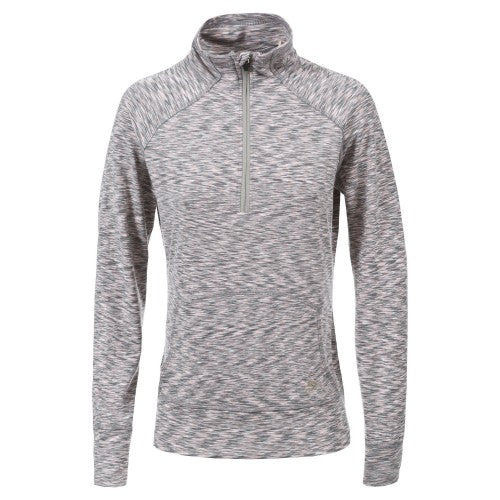 Front - Trespass Womens/Ladies Moxie Half Zip Fleece Top