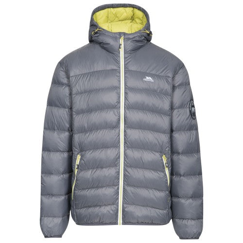 Front - Trespass Mens Whitman Packaway Down Jacket
