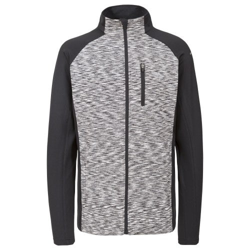Front - Trespass Mens Ferris Full Zip Active Top